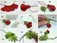 Patrones Crochet: Broche Amapola Tutorial