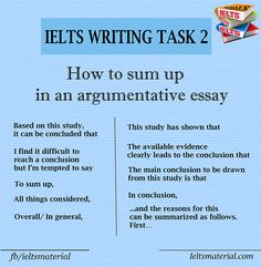 How to sum up in an argumentative essay