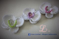 Video tutorial and crochet schemes how to crochet orchid, tunisian crochet.