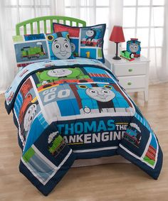 Look what I found on #zulily! Thomas the Tank Engine Right on Time 'Go Go' Comforter Set #zulilyfinds