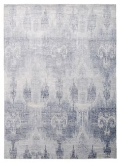 Ikat print on bamboo rug from the rug company (Bamboo Ikat Blue_F) Contemporary Rugs, Modern Rugs, Room Rugs, Area Rugs, Bamboo Rug, Bamboo Trellis, Interior Rugs, Interior Design, Rug Company