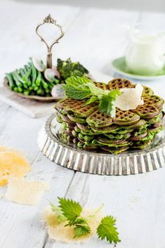 Pancakes, Waffles, Just Eat It, Plant Based Recipes, Food Inspiration, Green Beans, Brunch, Goodies, Food And Drink