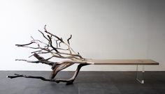 """""""Fallen Tree"""" gracefully conveys the process of future-forward furniture design while reminding us that many chairs and benches originate from trees."""