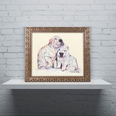 Snuggles by Pat Saunders-White Framed Painting Print