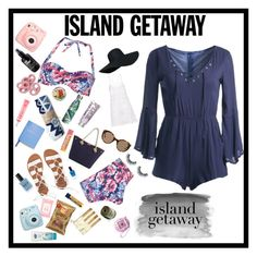 """Island Getaway"" by jojocas on Polyvore featuring Dorothy Perkins, Sans Souci, The Beach People, MICHAEL Michael Kors, Anjuna, Billabong, Illesteva, Lauren B. Beauty, Accessorize and Round Towel Co."