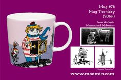 Mug – Too-ticky Produced: Illustrated by Tove Slotte and manufactured by Arabia. The original artwork can be found in. Moomin Mugs, Tove Jansson, Original Artwork, The Originals, Finland, Tableware, Cups, Songs, History