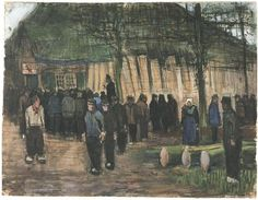 """Vincent van Gogh: """"Lumber Sale"""" Watercolor, Charcoal or black chalk, transparent and opaque watercolour, on laid paper Nuenen: December, 1883 Van Gogh Museum, Amsterdam, The Netherlands"""