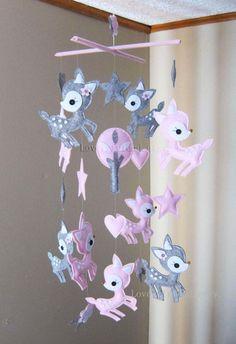 Baby Mobile Nursery Mobile Long Decorative Stars and Deer crib - http://babyfur.net/baby-mobile-nursery-mobile-long-decorative-stars-and-deer-crib/