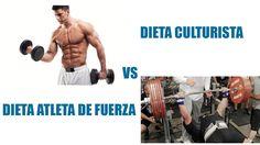 Dieta para culturismo y dieta para un atleta de fuerza ¿Son iguales?  