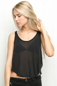 Brandy ♥ Melville   Braelyn Tank - Clothing Scarlett Leithold, Cute Tops, Brandy Melville, Summer Days, Slay, Spring Summer Fashion, Jewerly, Naked, Shirts