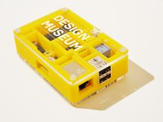 Raspberry Pi in Yellow case for the Design Museum Designs of the Year 2013