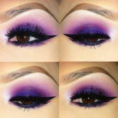 eyes make up  purple shadow