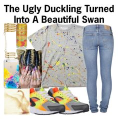 """""""Beautiful Swan--"""" by ja-la ❤ liked on Polyvore featuring Nudie Jeans Co., Casetify, GUESS, MANGO and NIKE"""