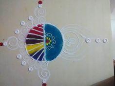 easy draw fancy rangoli - K263 - YouTube