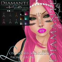 Diamante &{K}: Losing My Religion - Facial Piercing  MarketPlace: https://marketplace.secondlife.com/p/Diamante-K-Losing-My-Religion-Facial-Piercing/5981335  Mainstore: http://maps.secondlife.com/secondlife/Dark%20Eternal%20Rose/128/131/28  Kink: http://maps.secondlife.com/secondlife/Twilight%20Desires/38/218/2751