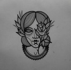Mini Tattoos, Cute Tattoos, Body Art Tattoos, Small Tattoos, P Tattoo, Tattoo Drawings, Traditional Tattoo Portrait, Surfboard Drawing, Female Face Drawing