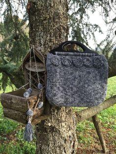 WaRm WiNteR bag  Borsa in lana grigia di JustForYouhm su Etsy