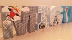 Letras 3D - Brinquedos de Menino