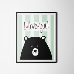 I love you by ogift on Etsy #bear #love #etsy #poster #selfpromo
