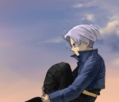 Future Trunks thinking Trunks Y Mai, Goku, My Character, Character Design, Vegeta And Trunks, Z Wallpaper, Fan Art, Cartoon Games, Dragon Ball Gt