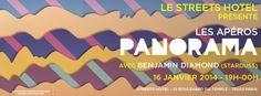 Apéro Panorama au Streets Hotel Paris le 16 Janvier 2014. A partir de 19h00...