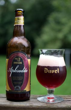 Aphrodite by Brewery Ommegang, yum Ruby Red, Fruity,raspberry, pear, watermelon. Sweet, then ended tart......8.9%. Expensive? A bit!!