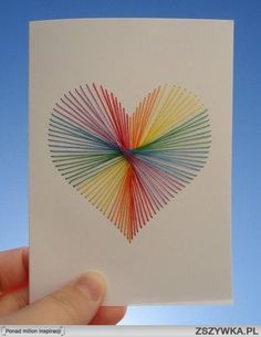 string art cards - pictures - without nails