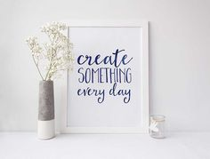 Create Something Every Day | New Years Resolutions Wit & Wander for By Dawn Nicole Mock Up