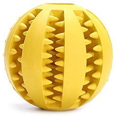PetsGarden Interactive Soft Rubber Toy Ball for Dogs & Cats Teeth Cleaning (2.76in/7cm, Yellow) @@@ You can continue to the product at the image link. (This is an affiliate link and I receive a commission for the sales)