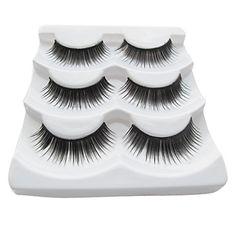 3Pair Black Fiber eyelash Beautiful Girl False Eyelashes