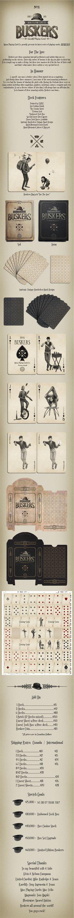 BUSKERS by Mana Playing Cards by Erik Mana & Alvin Campana — Kickstarter