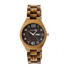 Earth Eco-Friendly Olive Wood Sapwood Watch EW1604