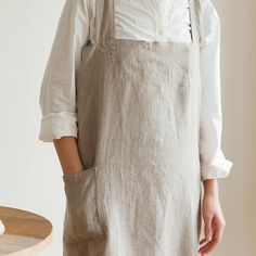 shop fog linen — Cross Apron: Natural I should be able to make this.....