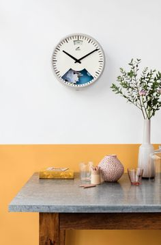 Cherished Gold is the colour for 2016 - it works really well with this Grey Weather Wall Clock, the colours compliment each other perfectly. Weather Clock by Bramwell Brown