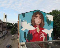 """528 curtidas, 2 comentários - @tschelovek_graffiti no Instagram: """"""""Evasion"""" by @sabeknonsense in Harburg, Hamburg, Germany for #wallscandance @urbanartinstitute…"""""""