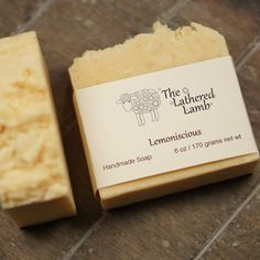 Lemon Scented Handmade Soap Handcrafted Artisan by TheLatheredLamb