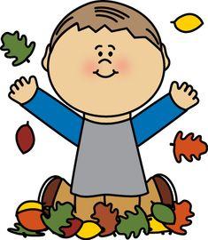 Boy Playing in Autumn Leaves Clip Art - Boy Playing in Autumn Leaves Image 2 Clipart, Leaf Clipart, Leaf Images, Art Images, Clothes Clips, Fall Clip Art, Winter Songs, Felt Tree, School Clipart