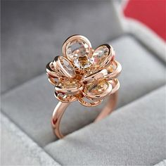Cheap crystal ring, Buy Quality fashion rings for women directly from China rings for women Suppliers: MOONROCY Drop Shipping Fashion Jewelry Wholesale Cubic Zirconia Rose Gold Color Crystal Rings Flower Rings for Women Gift Cute Jewelry, Gold Jewelry, Jewelry Accessories, Jewelry Design, Women Jewelry, Cheap Jewelry, Diamond Jewelry, Jewelry Rings, Statement Jewelry