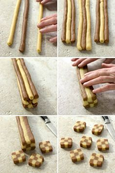 How to make checkerboard butter cookies on JillHough.com
