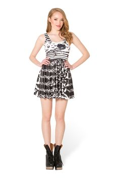 The Wicked Witch of the West Scoop Skater Dress (WW $95AUD / US $90USD) by Black Milk Clothing
