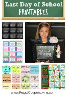 FREE Last Day of School Printables - Signs for All Grades #free #backtoschool #lastdayofschool #printable #sign #school #lastday #endoftheyear