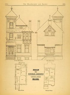 victorian houses floor plans - Google Search