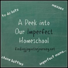 Come take a peek into our imperfect homeschool. No we don't have an overabundance of patience, no our days aren't perfect. They are messy, they are real and I'm sharing them with you!