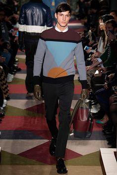 Férfi kötött pulóver, kapucnis kék