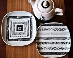 Ideas for porcelain plates made by special marker (pen), DIY