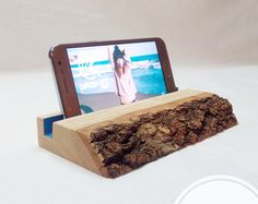 Cell Phone Holder Wood Docking Station Wooden Phone Stand Wood Dock Station Phone Dock Wood For Her Gift For Him Coworker' Gift Father's Day