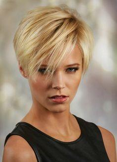 damen frisurentrends 2018 kurz blond mit strähnen #hair #hairstyles