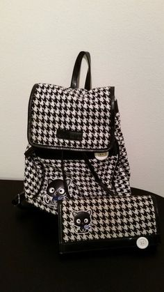 Sanrio Chococat Houndstooth Small Backpack with Matching Wallet #Sanrio #Backpack
