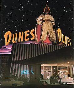 The Dunes Hotel Sultan on the  Las Vegas Strip in the 1950's.  #vintageLasVegas
