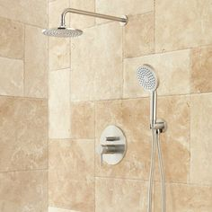 Buy the Signature Hardware 416163 Brushed Nickel Direct. Shop for the Signature Hardware 416163 Brushed Nickel Lattimore Shower System with Rainfall Shower Head and Hand Shower - Rough In Included and save.
